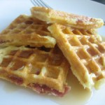 Maple Bacon Cornmeal Waffles
