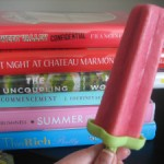 Raspberry Yogurt Popsicles + Summer Reading