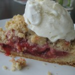 Strawberry Rhubarb Tart with Brown Butter Crumble
