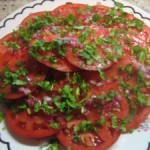 Tomato Salad with Cilantro Vinaigrette