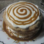 Butterscotch Pecan Meringue Torte