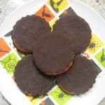 Chocolate Espresso Sandwich Cookies with White Chocolate Filling (Halloween Oreos!)