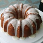 Lemon Rhubarb Buttermilk Bundt Cake