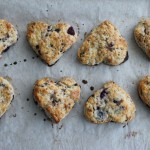 Dark Chocolate & Fresh Cherry Scones