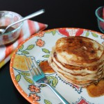 Mexican Pancakes with Brown Butter Cinnamon Maple Syrup