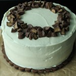 Peanut Butter Cake with Chocolate Peanut Butter Filling & Cream Cheese Frosting