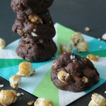 Chocolate Caramel Corn Cookies