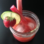 Strawberry Rhubarb Jam Margarita {Gastropost Mission #112}