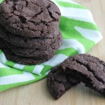 Chewy Chocolate Mint Cookies