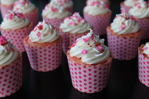 Cherry Chip Cupcakes