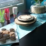 Chocolate Chip Cheesecake Cake + 5th Blog-iversary Party