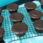Baked Sunday Mornings: Red Wine Chocolate Cupcakes with Chocolate Glaze