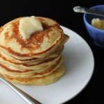 Orange Pancakes with Honey Butter