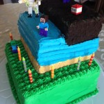 Minecraft Birthday Cake 2.0 {Checkerboard Cake}