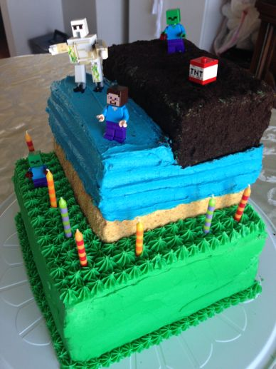 Minecraft Birthday Cake 2.0
