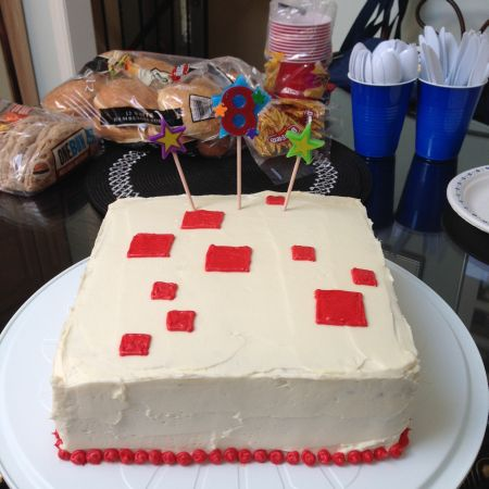 Minecraft Birthday Cake 10 Whats Cooking on Planet Byn
