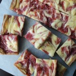 Rhubarb Cheesecake Blondies