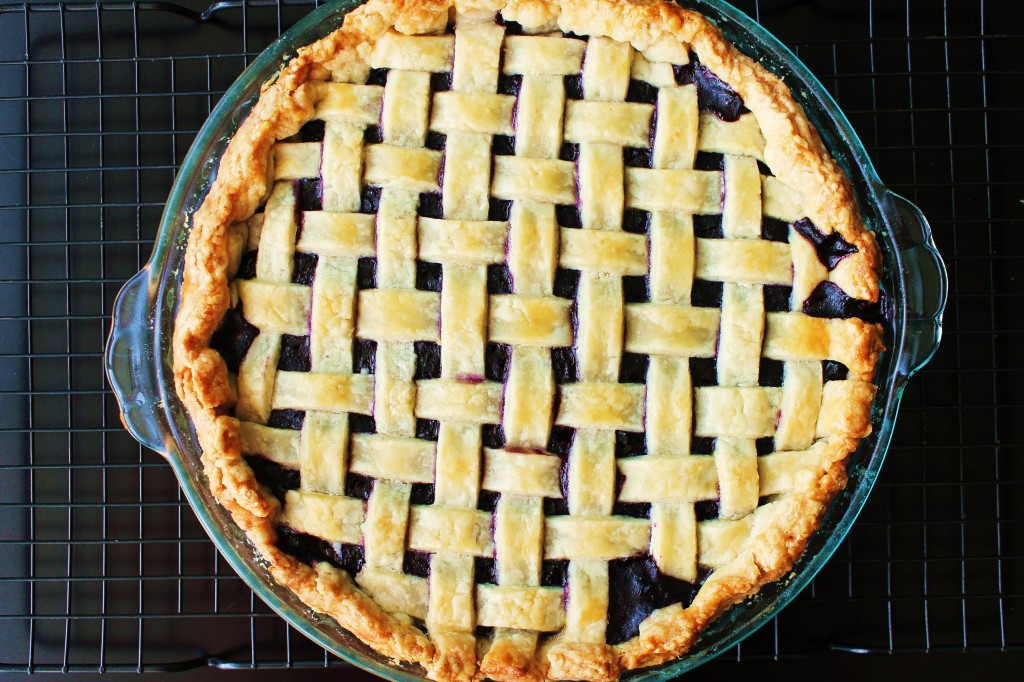 Blueberry Lattice Top Pie
