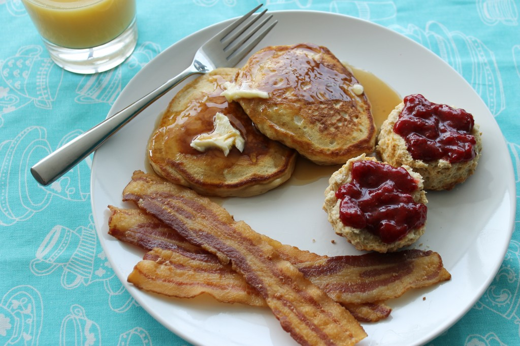 Banana Bourbon Pancakes {Planet Byn}