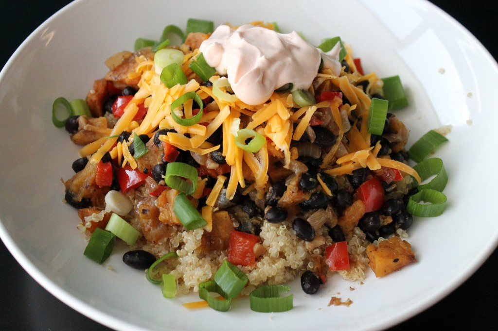 Butternut Squash & Black Bean Burrito Bowl