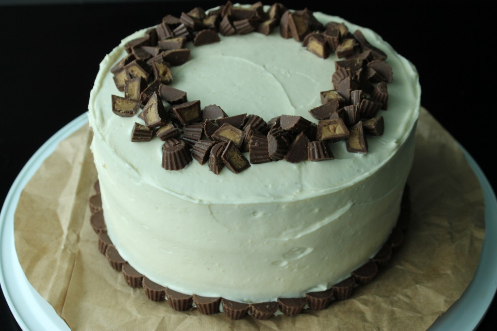 Peanut Butter Cake with Chocolate Peanut Butter Filling Cream