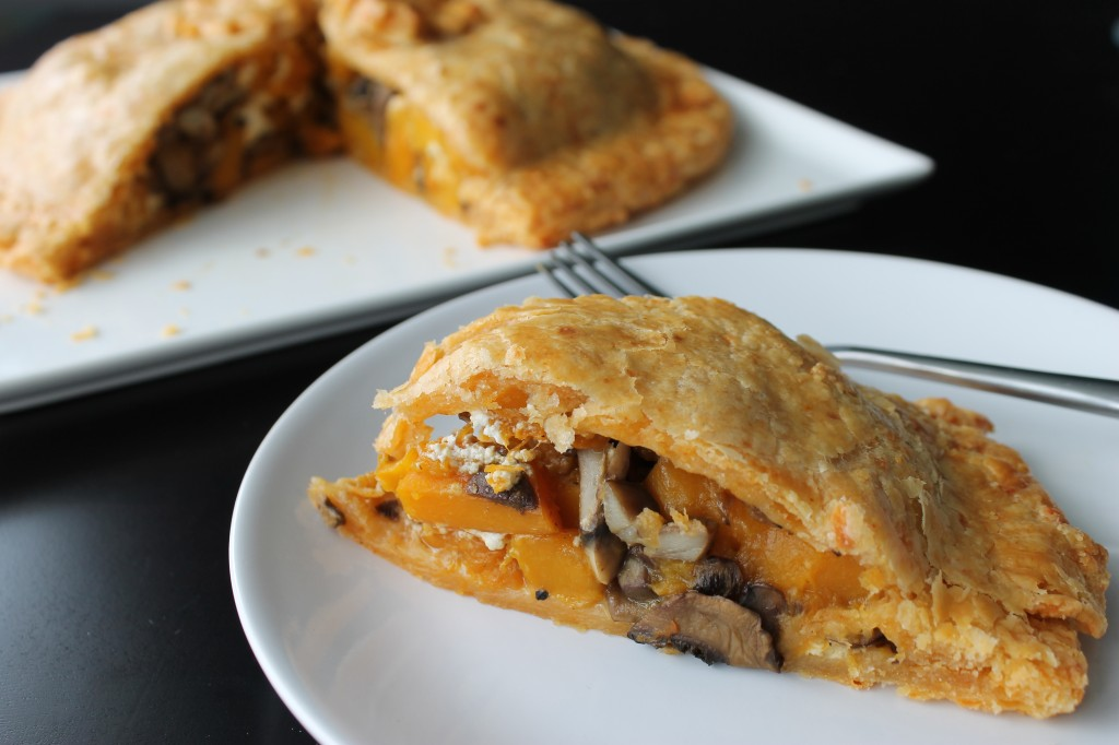 Roasted Butternut Squash & Mushroom Pie