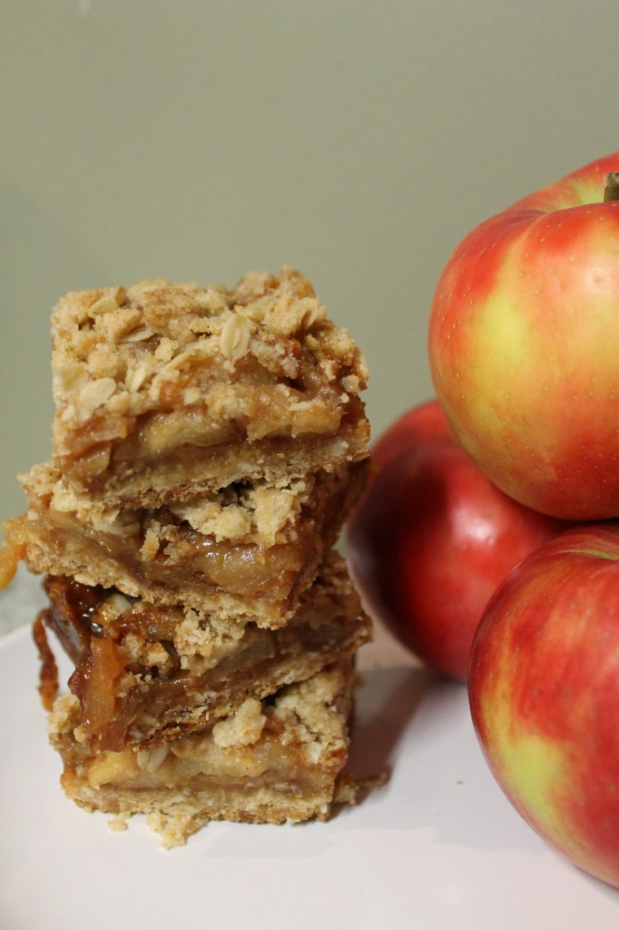 Salted Caramel Apple Crumble Bars — What's Cooking on Planet Byn