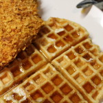 Faux Fried Chicken + Brown Sugar Bacon Waffles
