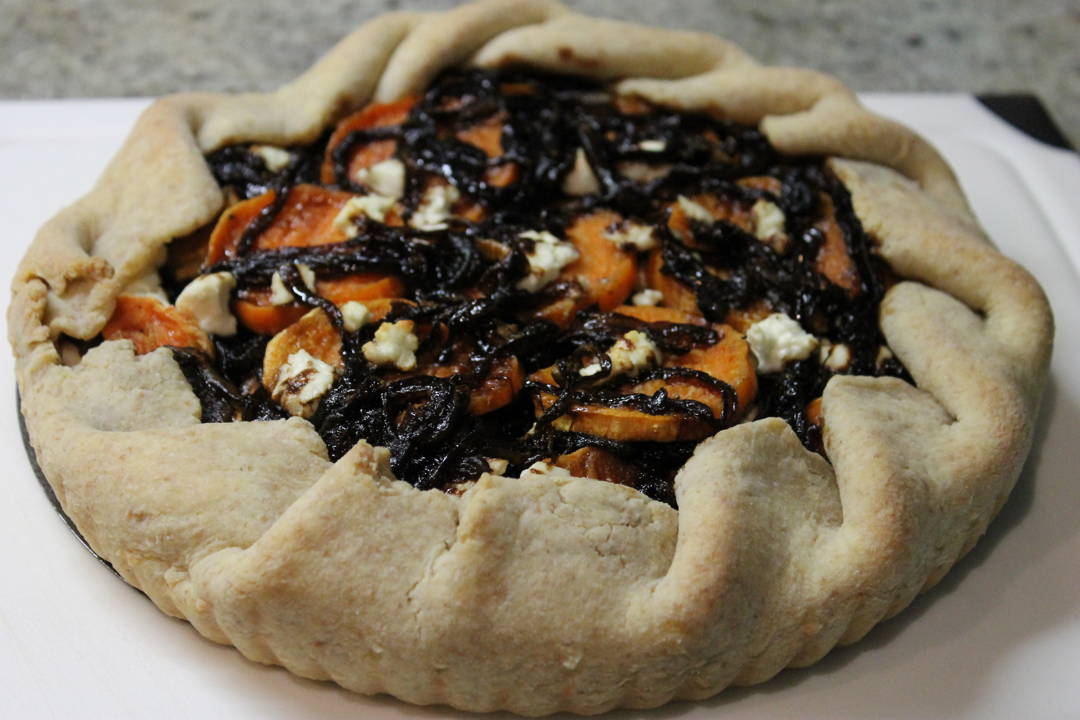Sweet Potato, Balsamic Caramelized Onion & Goat Cheese Galette